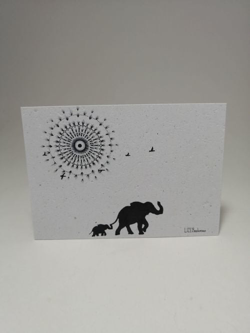 Growing Paper - Post Card - Elephant