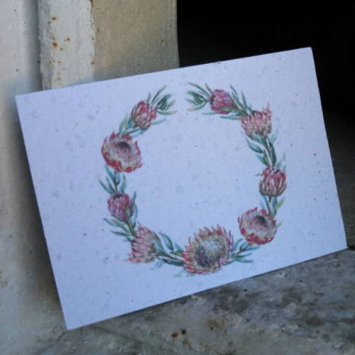 Growing Paper - Post Card - Wreath