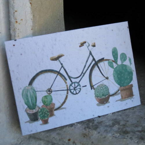 Growing Paper - Post Card - Bicycle