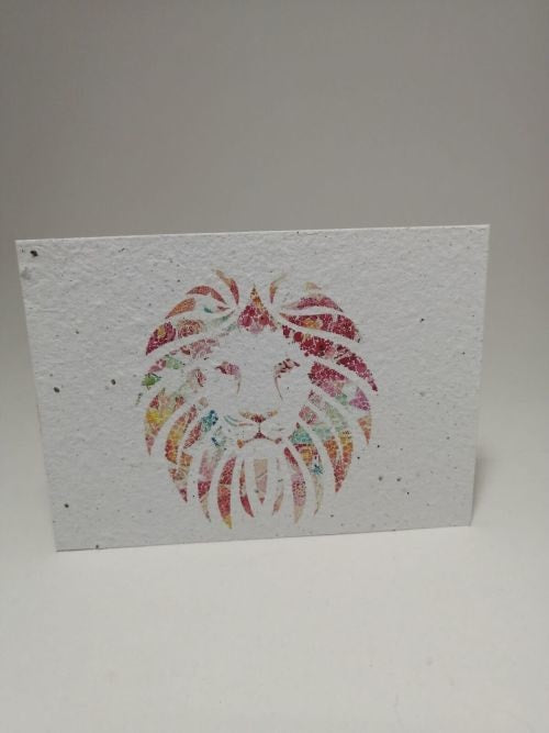 Growing Paper - Post Card - Lion