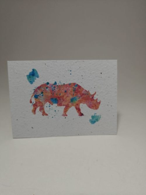 Growing Paper - Post Card - Rhino