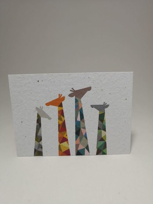 Growing Paper - Post Card - Giraffe