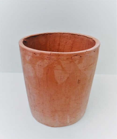 Red Seal Terracotta Clay Round Pot