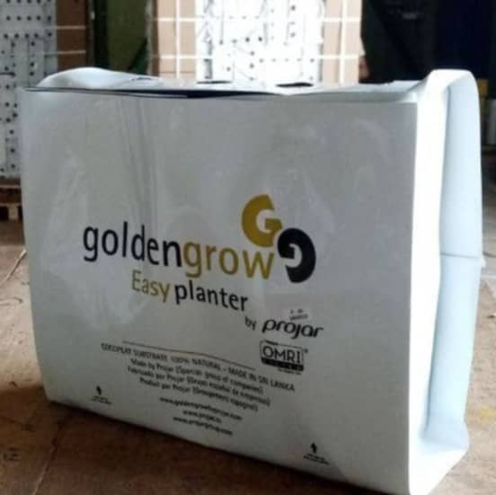 Golden Grow Superior Washed Easy Planter Coco Peat Grow Bag 12L - Hydroponic Growing Medium