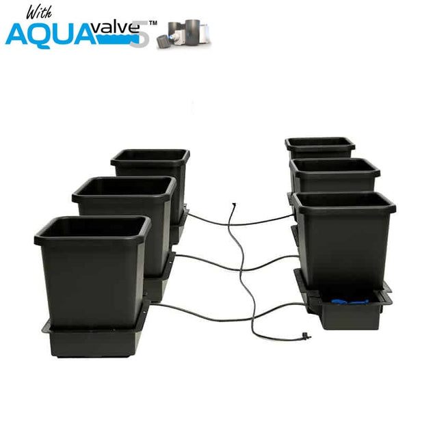 Aquapot 6 Pot System AQUAValve 5 with 15L Pots without Tank - Hydroponic Systems