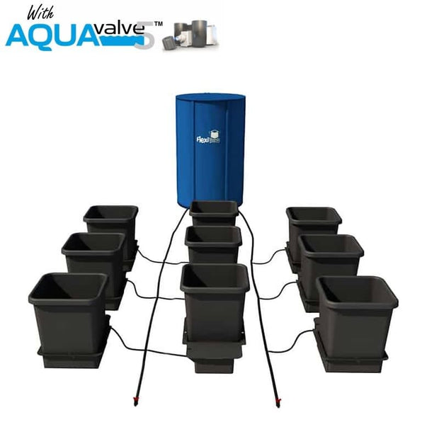 Aquapot 9 Pot System AQUAValve 5 with 15L Pots and 100L Tank - Hydroponic Systems
