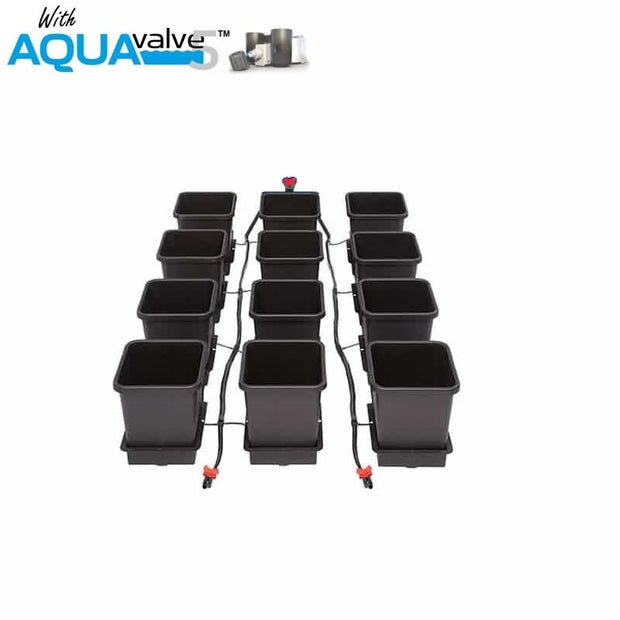 Aquapot 12 Pot System AQUAValve 5 with 15L Pots without Tank - Hydroponic Systems