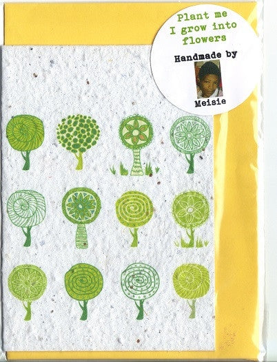 Growing Paper - Greeting Card - Round Trees