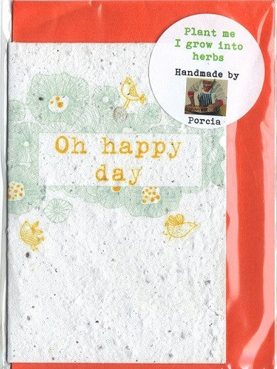 Growing Paper - Greeting Card - Oh Happy Day