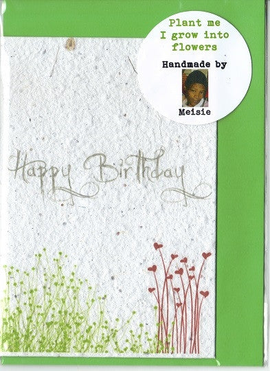 Growing Paper - Greeting Card - Happy Birthday 2