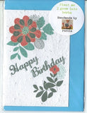 Growing Paper - Greeting Card - Happy Birthday Flower