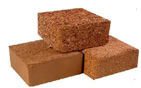 Coco Peat - 7kg Compressed 100% fine buffered coco peat / coir bricks