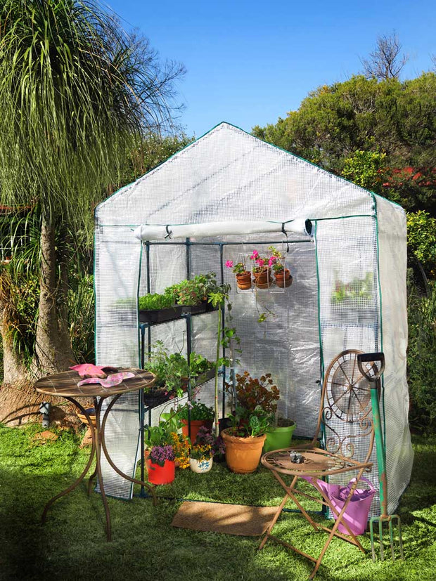 Tiered Walk-in Greenhouse 8 Shelves 155cm x 140cm x 200cm