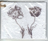 Growing Paper - Single Gift Tag - Flower Pair