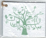 Growing Paper - Single Gift Tag - Animal Tree