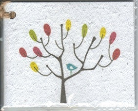 Growing Paper - Single Gift Tag - Colour Tree