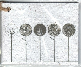 Growing Paper - Single Gift Tag - Abstract Trees