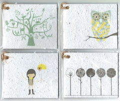 Growing Paper - Gift Tag Pack - 4 Gift Tags - Pack Four