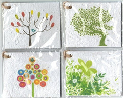 Growing Paper - Gift Tag Pack - 4 Gift Tags - Pack Five