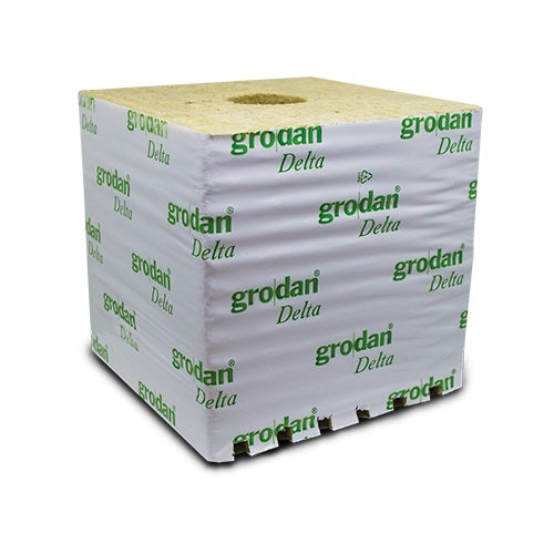 Grodan Delta 15cm x 15cm x 15cm Rockwool Blocks - Propagation & Seed Starting