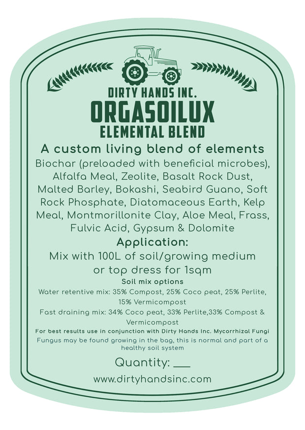 Dirty Hands Inc Elemental Blend - Mineral & Nutrient Pack 10L - Hydroponic / Soil Growing medium