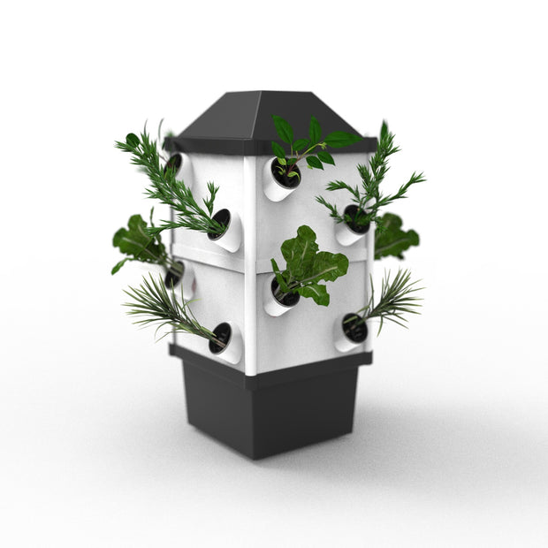 Hydroponic NFT Tower System - 16 Pocket / 16 Plants - Hydroponic System
