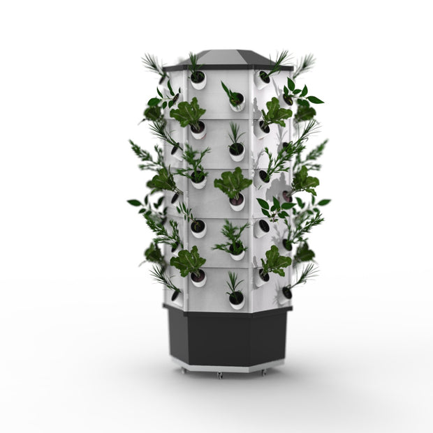 Hydroponic NFT Tower System - 60 Pocket / 60 Plants - Hydroponic System
