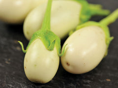 Japanese White Egg Eggplant - Heirloom Vegetable - Solanum melongena - 25 Seeds