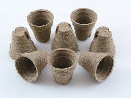 Jiffy Professional Peat Pots - 8cm x 8cm - Pack of 10 Pots