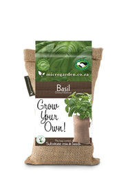 Microgarden Grow Bag, Growing Substrate and Basil herb seeds