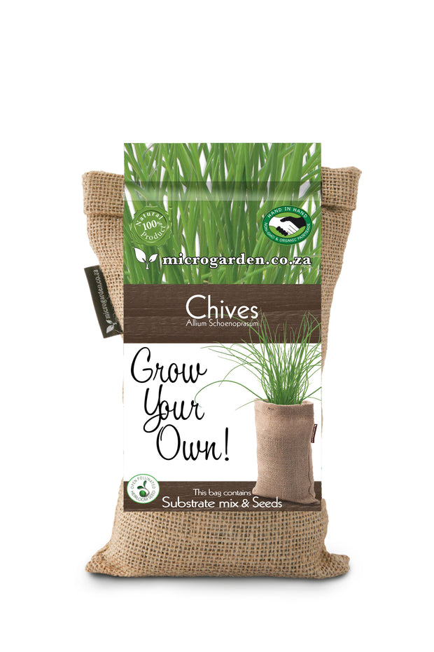Microgarden Grow Bag, Growing Substrate and Chives herb seeds