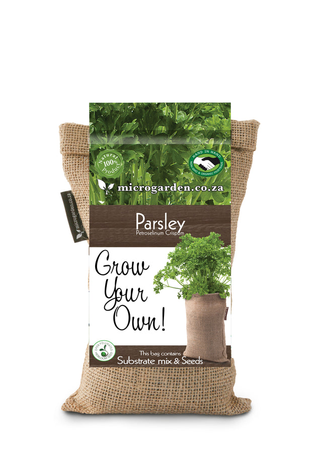 Microgarden Grow Bag, Growing Substrate and Parsley herb seeds