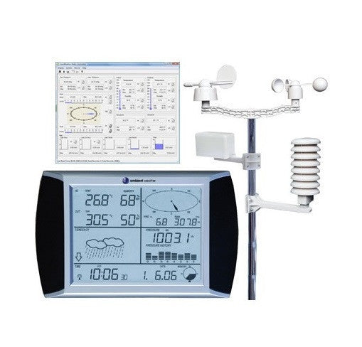 Professional Touch Screen Weather Station with PC Interface