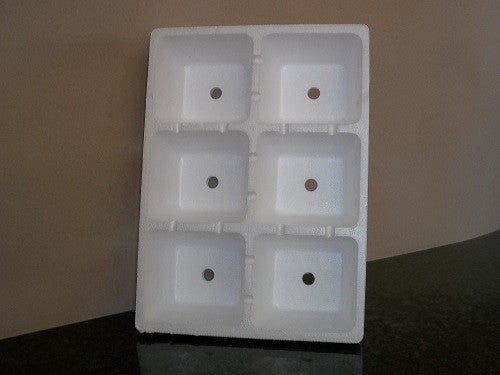 5 Pack - 6 Cell Polystyrene Seed Trays