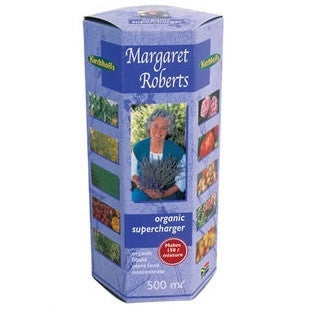 Margaret Roberts Organic Super Charger - Fertiliser - 500ML - Makes up to 150 Litres