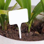 25 Pack - White Plastic Plant Markers T Shaped