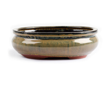 29cm x 23cm x 10cm - Glazed Bonsai Container - Mustard