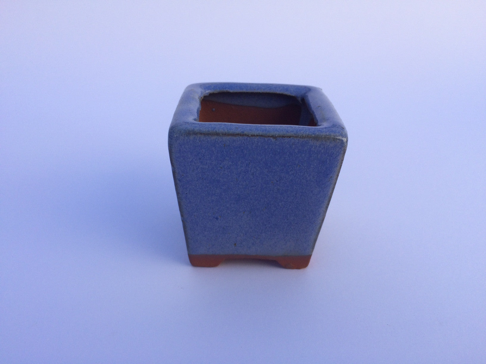 5.5cm x 5.5cm x 5cm Glazed Bonsai Container - Lavender