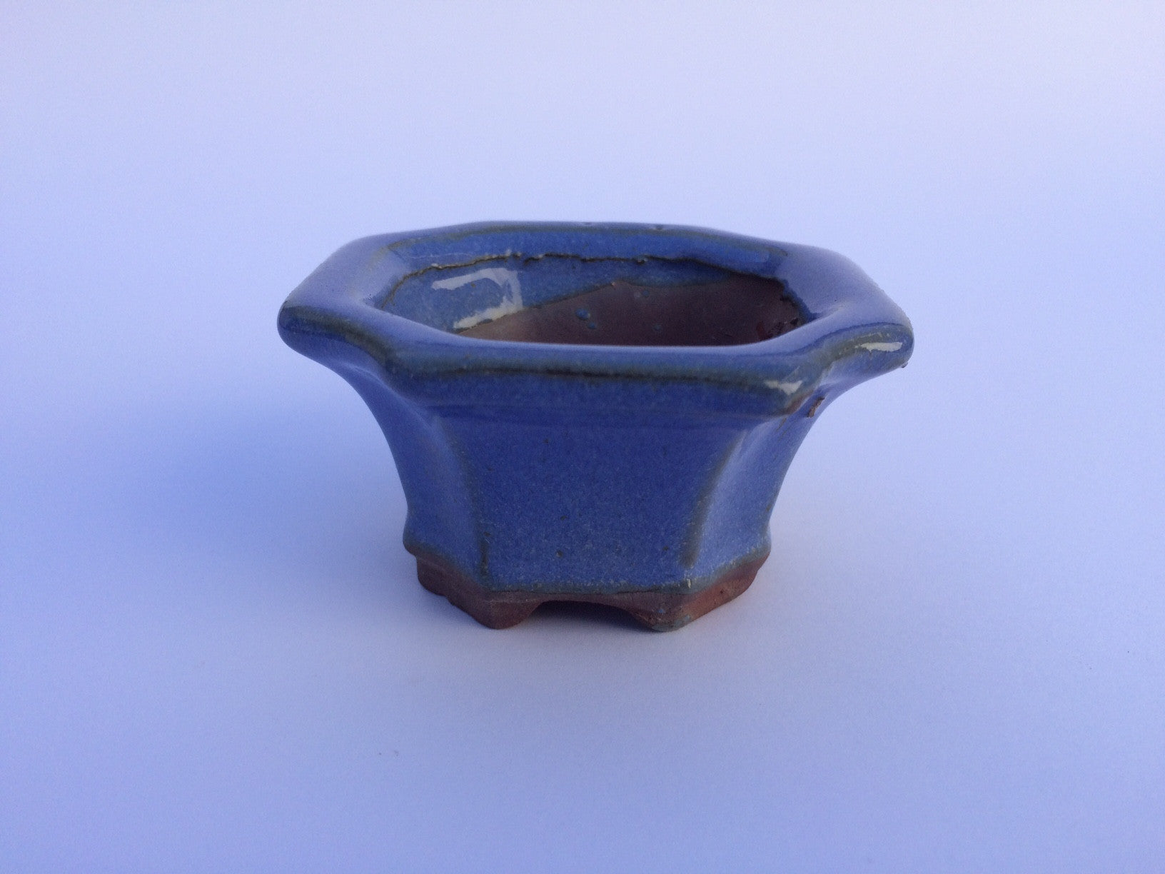 7cm x 7cm x 4cm Glazed Bonsai Container - Lavender