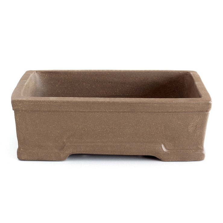 Unglazed 26cm x 19cm x 8cm Rectangular Bonsai Container / Pot