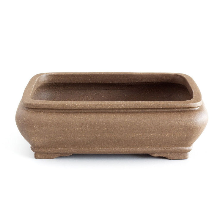 Unglazed 25cm x 19cm x 8cm Soft Rounded Rectangular Bonsai Container / Pot