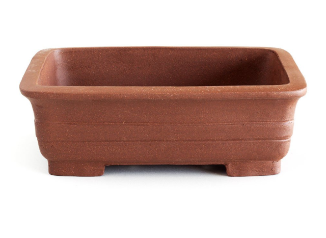 Unglazed 20cm x 16cm x 6cm Soft Rectangular Bonsai Container / Pot