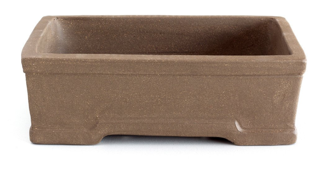 Unglazed 20cm x 15cm x 6cm Formal Rectangular Bonsai Container / Pot