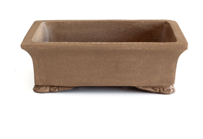 Unglazed 20cm x 14cm x 6cm Rectangular Bonsai Container / Pot