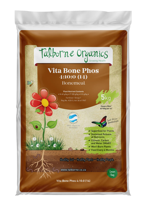 Talborne Organics - Vita Bone Phos - Trees, Shrubs & Root Vegetables Organic Fertilizer