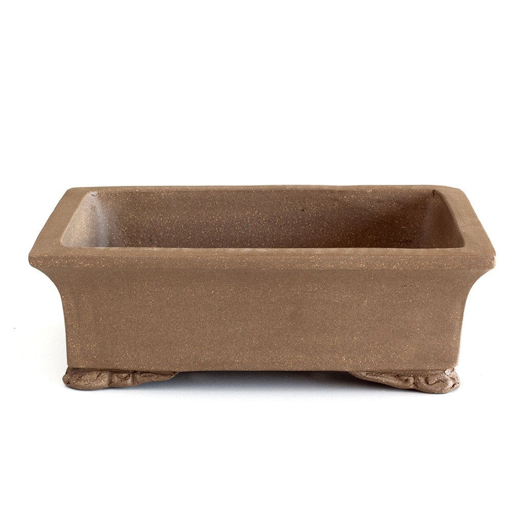 Unglazed 26cm x 20cm x 9cm Rectangular Bonsai Container / Pot