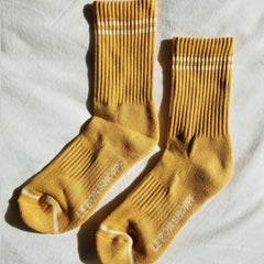 Main image: Le Bon Shoppe Boyfriend Socks Butter