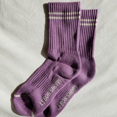 Main image: Le Bon Shoppe Boyfriend Socks Grape