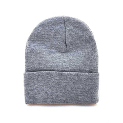Main image: Solid Knit Beanie LIGHT GREY / 1PC M
