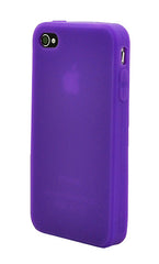 iPhone 4/4S Anti Slip Soft Silicone Purple